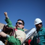 Edison Pe–a, 34, becomes the twelfth trapped miner to be rescued from the San Jose mine near Copiapo, Chile on October 13, 2010. HUGO INFANTE/GOVERNMENT OF CHILE