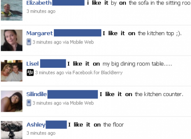 A simple Facebook search shows how many women Like It in different places.