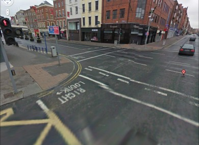 Limerick City Centre, as seen in Google Street View