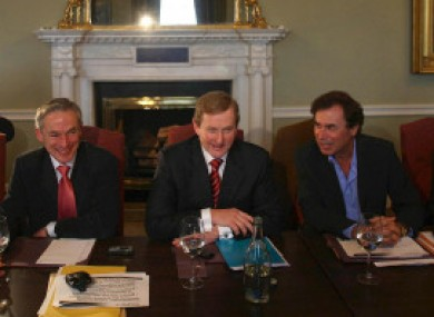 Alan Shatter, right, says he was defending his leader Enda Kenny's right to speak