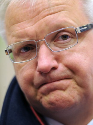 European Commissioner for the Economy Olli Rehn