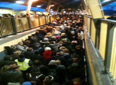 A packed Connolly Station in Dublin just after 6pm
