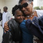 Enietra Washington, right, who survived an attack by the alleged