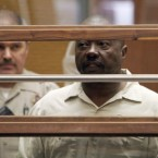 Lonnie Franklin Jr appears for arraignment on multiple charges as the alleged 'Grim Sleeper' killer in Los Angeles Superior Court on July 8 this year.