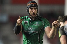 John Muldoon out of Connacht's festive schedule with broken arm