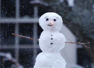 Snowmen across the UK are urged to be vigilant
