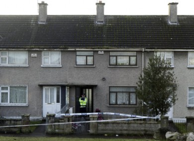 Gardaí at the scene of a double shooting in O'Malley Park in Limerick.