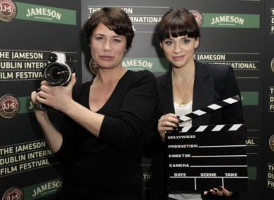 Actors Maura Tierney and Charlene McKenna launch the Programme of the 2011 Jameson Dublin International Film Festival at the Merrion Hotel in Dublin.