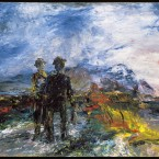 The Two Travellers by Jack B Yeats, painted 1942, appears on loan from the Tate Gallery, London, at The Model, Sligo.