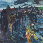This painting, A Horseman Enters a Town at Night, considered to be one of Jack B Yeats's masterpieces is to be publicly displayed for the first time in an exhibition at The Model arts centre in Sligo next month. Image courtesy The Model.<span class=