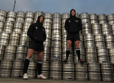 Stephen Ferris and Tommy Bowe at the Guinness Storehouse this week.
