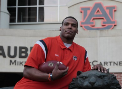 Auburn quarter back Cam Newton pictured on campus this week.