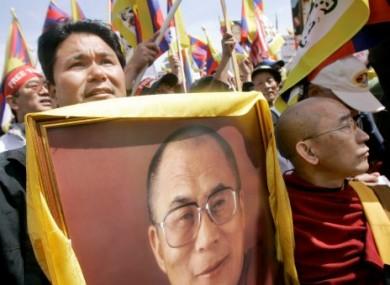 Jigme Norbu, left, nephew of the Dalai Lama, in 2008.