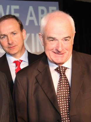 Micheál Martin and Ned O'Keeffe in 2009