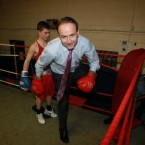 Micheal Martin in the Glen Boxing Club in Cork city - his father Paddy was a champion boxer for the club in his day. Pic: PA Images/Julien Behal.
