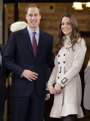 Prince William and (now-to-be-called) Catherine Middleton visit Belfast City Hall in Northern Ireland.