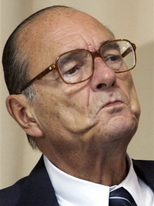 Former French President Jacques Chirac .
