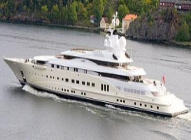 Roman Abramovich's Pelorus - understood to have been used as a blueprint for the planned Obiang yacht, courtesy of Global Witness.