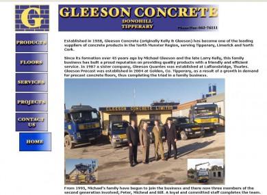 Gleeson Concrete website