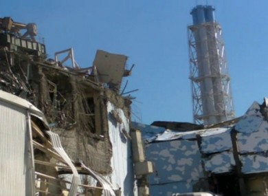 Image of damaged Reactor 3, left, released last week.