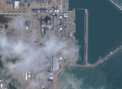 This satellite image provided by Geoeye shows the Fukushima Dai Ichi nuclear power plant taken Thursday March 17, 2011. J