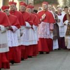 Pope Benedict XVI celebrates Ash Wednesday in Rome with some colleagues. (AP Photo/Gregorio Borgia)