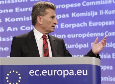 European Commissioner for Energy Guenther Oettinger.