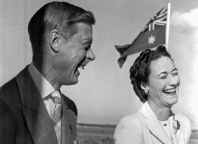 Wallis Simpson with Edward VIII, who abdicated the British throne in order to marry her.