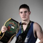 Joe Ward from Moate Boxing Club after winning the light-heavyweight title against Kenny Egan.