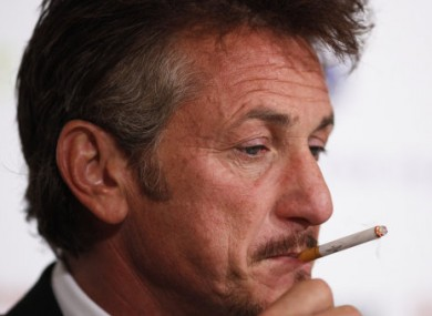Okay, Sean Penn smokes - as seen here last month in Berlin - but it's not big and it's not clever, right?