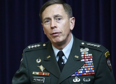 General David Petraeus, Commander of NATO International Security Assistance Force and US Forces Afghanistan.