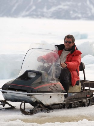 Charlie Bird in the South Pole filming the documentary