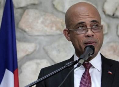 Haitian President Michel Martelly.