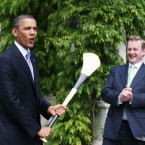 Enda looks a tad more nervous in this snap.