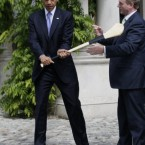 The Taoiseach gives the US President a few pointers...