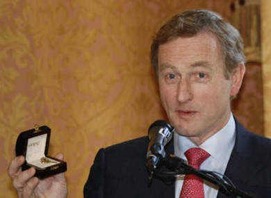 The Taoiseach was made up with his special Obama visit commemorative pin