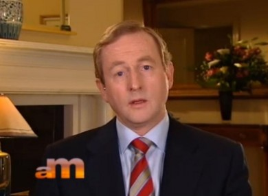 Enda Kenny on BBC television this morning