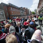 Huge queues have been forming in Dublin city centre ahead of Obama's public address this evening. 