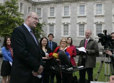 Phil Hogan announces details of the government's new political reform measures at Leinster House this afternoon.