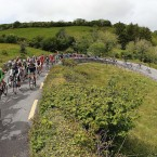 The race makes it's way up the Corkscrew in Clare.