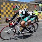 Remi Sarreboubee of the France AVC Aix en Provence team takes a sharp corner.