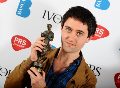 Conor J O'Brien with his Best Song award at today's ceremony