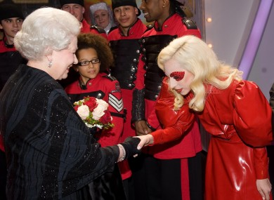 The Queen is obviously mad about music. Look at her shooting the breeze with Lady Gaga