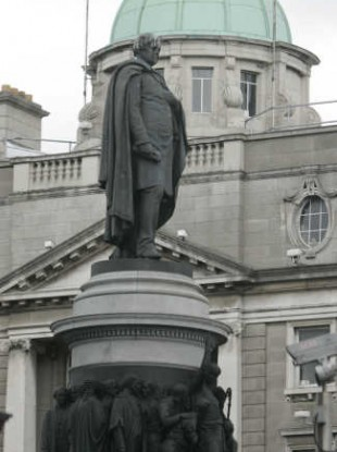 Daniel O'Connell could have the best view of Obama's public address in Dublin