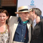 Peter O'Toole with his daughter Kate and son Logan<span class=