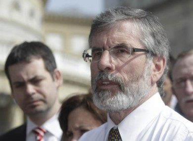 File photo of Gerry Adams.
