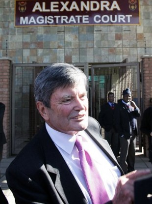 Jeremy Ractcliffe leaves the court in Johannesburg after being found not guilty of dealing in