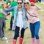 Jennifer Maher and Emma Sprice from Waterford, pictured at Slane for the Kings of Leon concert last weekend. (Leon Farrell/Photocall Ireland)