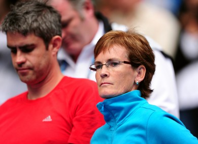 Judy Murray says she finds watching her son play in the flesh is less nerve-racking than watching him on TV.