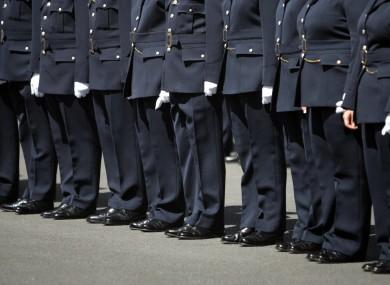 Garda recruits in Templemore
